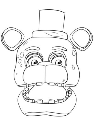 FNaF Freddy Portrait coloring page from Five Nights at Freddy\'s ...