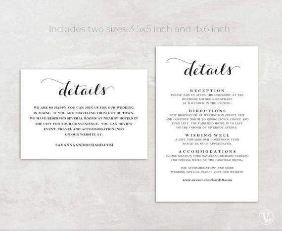 Beautiful Wedding Invitation Set This Wedding Invitation Template Set Includ Wedding Invitation Details Card Wedding Invitation Tags Kraft Wedding Invitations