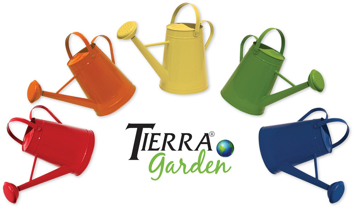 Take the chore out of tending to your plants with these bright and cheery watering cans from Tierra Garden. Made of powder-coated, galvanized steel, they are available in a rainbow of five fun colors. With a large capacity of over two gallons, you will save trips back and forth to your water source. Visit www.tdibrands.com to see our entire selection of watering cans today!