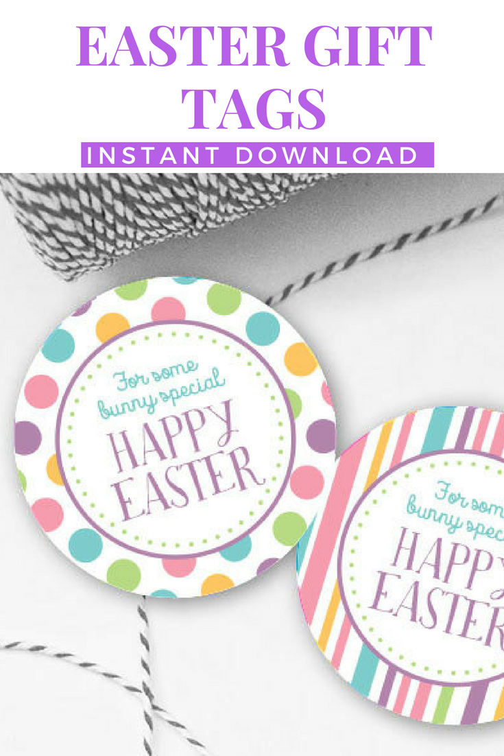 Easter tags printable easter favor tags easter gift tags happy easter tags printable easter favor tags easter gift tags happy easter tags instant download easter printables negle Images