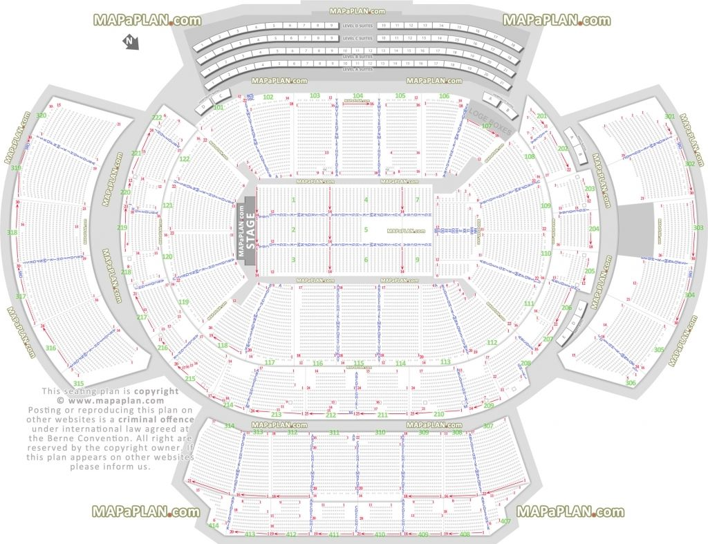 The Brilliant Quicken Loans Arena Seating Chart With Rows And Seat Numbers