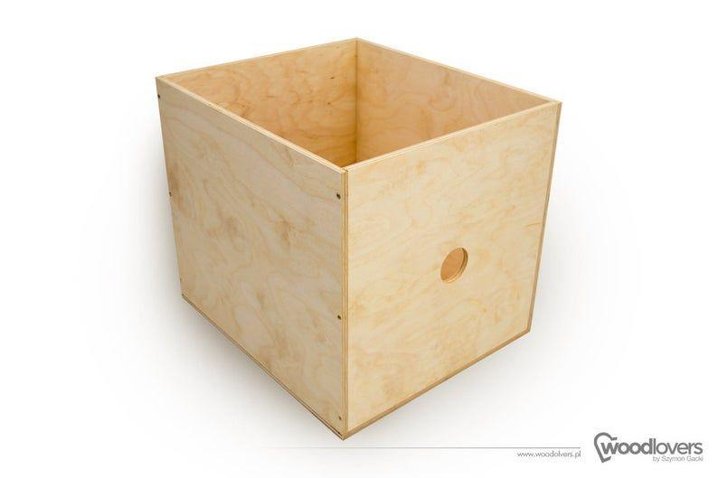 Expectit Wooden Box Insert For Shelf Cabinet Ikea Expedit Kallax In 2020 Wooden Boxes Ikea Expedit Kallax