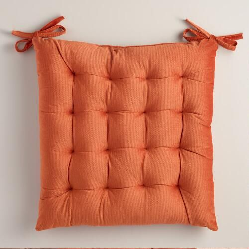 Rust Orange Velvet Chair Cushion | Velvet chair, Chair ...