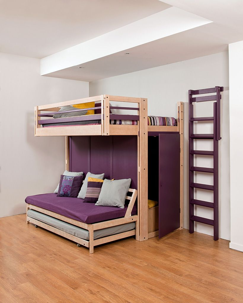 lit mezzanine avec penderie int gr et bloc de rangement sd17 jornalagora. Black Bedroom Furniture Sets. Home Design Ideas