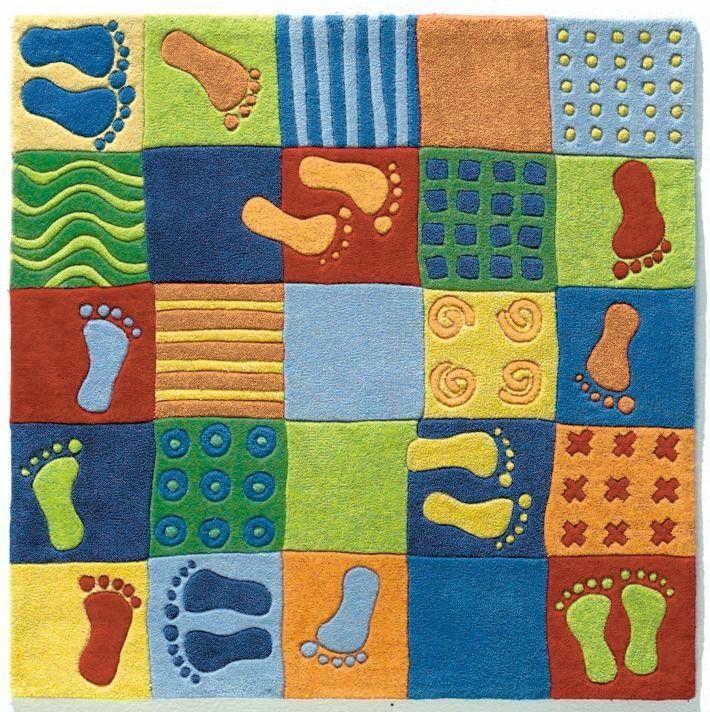 Feet Area Rug Acrylic Yarn Childrens Carpet Haba Usa