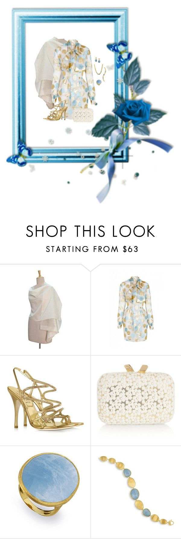"""""""Metallic Polka Dots (1075)"""" by trufflelover ❤ liked on Polyvore featuring NOVICA, The 2nd Skin Co., Loriblu, KOTUR and Marco Bicego"""