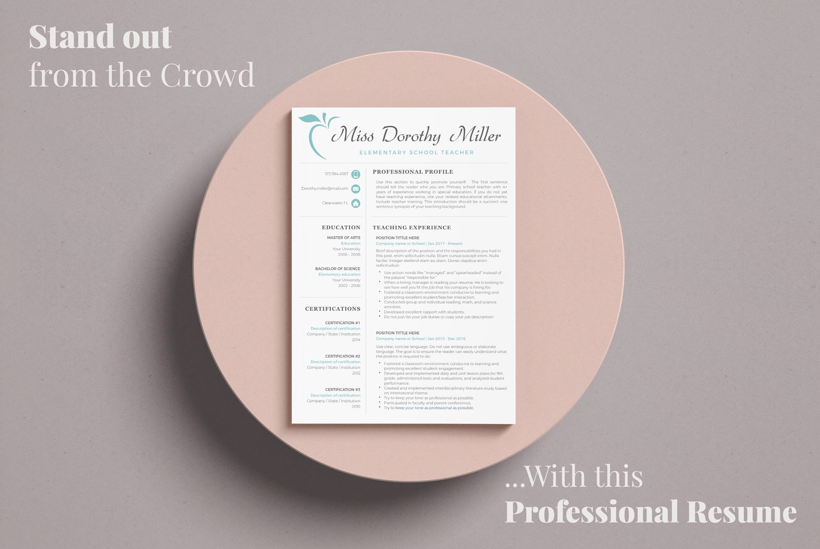 Creative Resume Templates for MS Word and Mac Pages