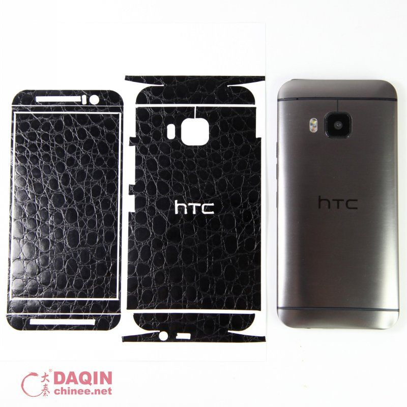 This Is The Wellcut Black Crocodile Leather Sticker For HTC One - Custom car decal maker machine