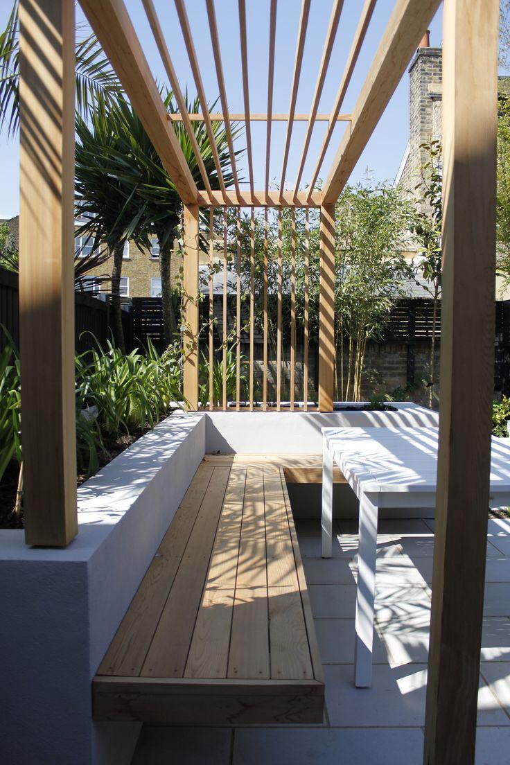 I Like This Modern Pergola Look Courtyard Design Contemporary Garden Design Backyard Landscaping Designs Backyard modern pergola ideas