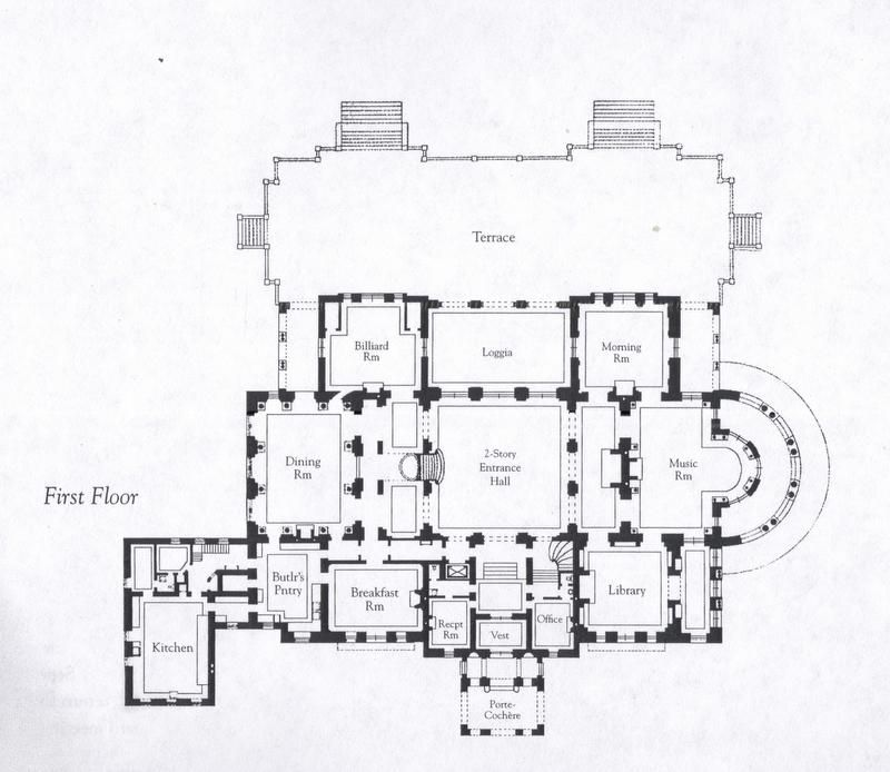 floorplans for gilded age mansions. - skyscraperpage forum | floor