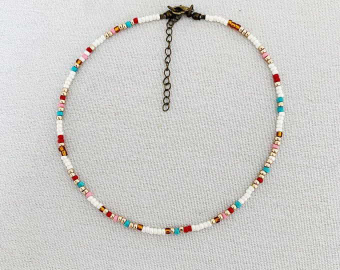 Photo of Long Beaded Necklace – Long and Colorful Beaded Necklace – Wrap Bracelet – Neaptide – Turquoise – Orange – Silver – Neaptide