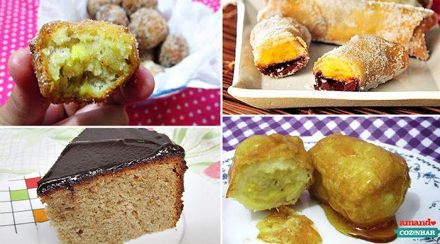 10 receitas com bananas - Amando Cozinhar - Receitas, dicas de culinária, decoração e muito mais!