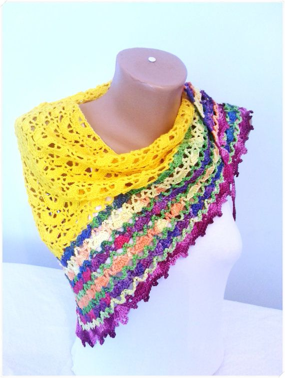 Crochet Wrap, Crochet Shawl, Shawl Spring Summer, Gift for Her ...