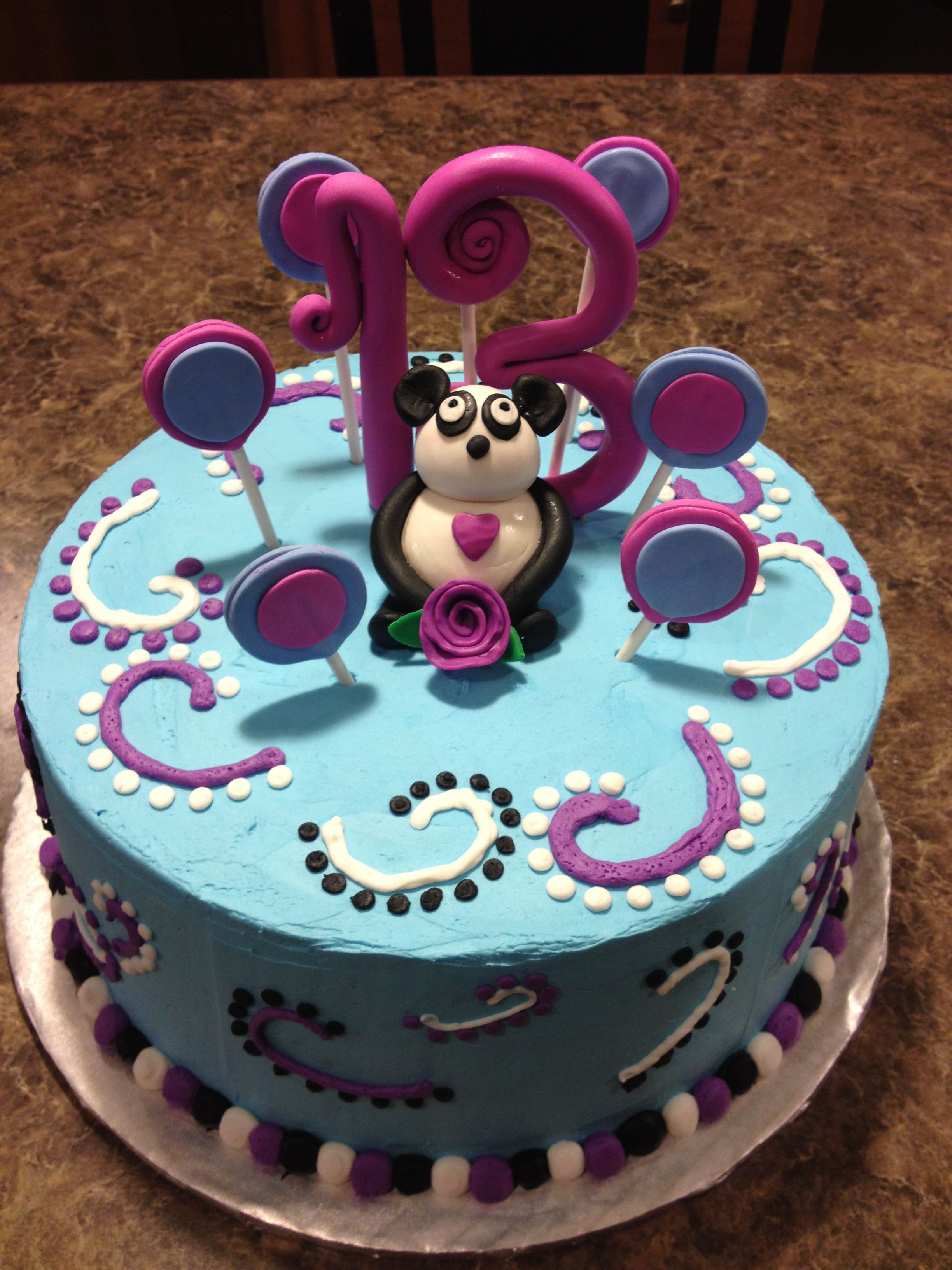 Panda Bear Cake Sweet November Cakes Pinterest