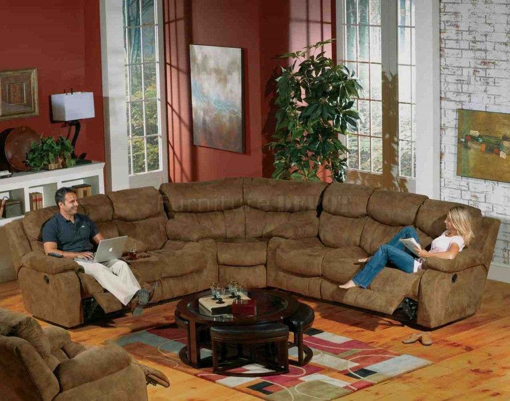 Curved Sectional Sofa With Recliner