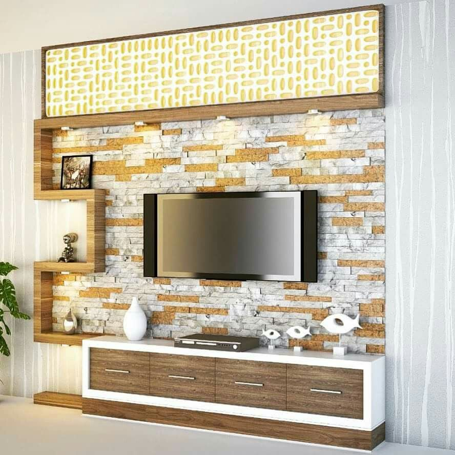 Living Room Cabinet Design In India: Pin By Vadivel On Tv Unit In 2019