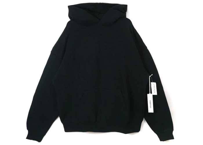 Fear Of God Essentials Graphic Pullover Hoodie Black Black Hoodie Pullover Hoodie Hoodies