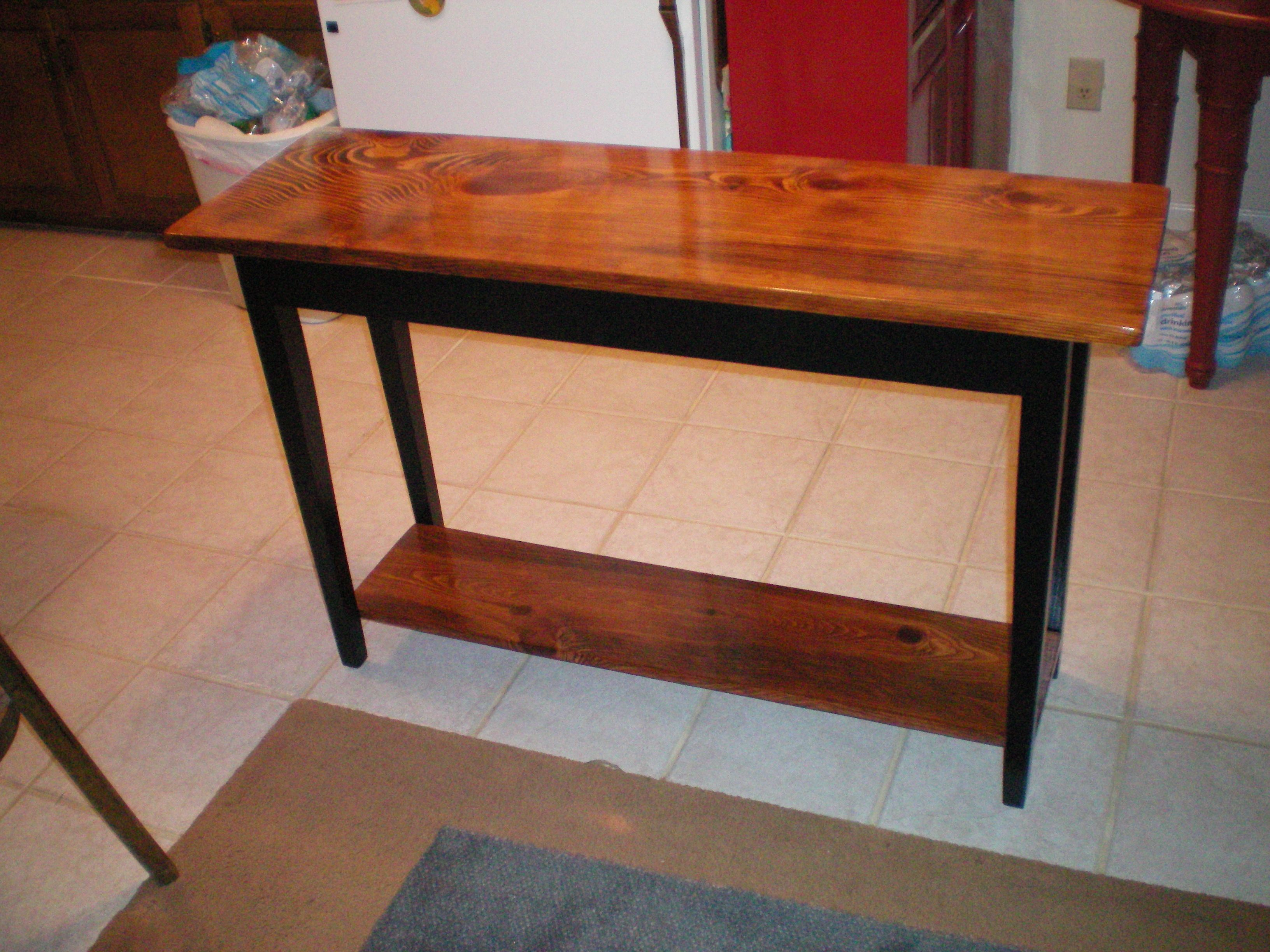 Just Got Done Making This Rustic Shaker Style Sofa Table With A