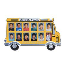 Personalized School Years Yellow Bus Picture Frame Personalized