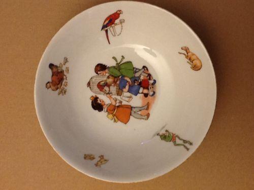 Vintage 1930 S Og Germany Childs China Bowl 6 White Multicolor Transferware Ebay China Bowl Transferware Vintage 1930s