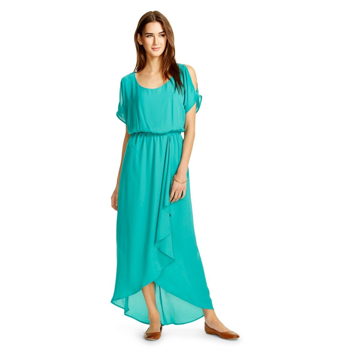 Cold Shoulder Chiffon Maxi Dress - Mossimo | My Style | Pinterest ...