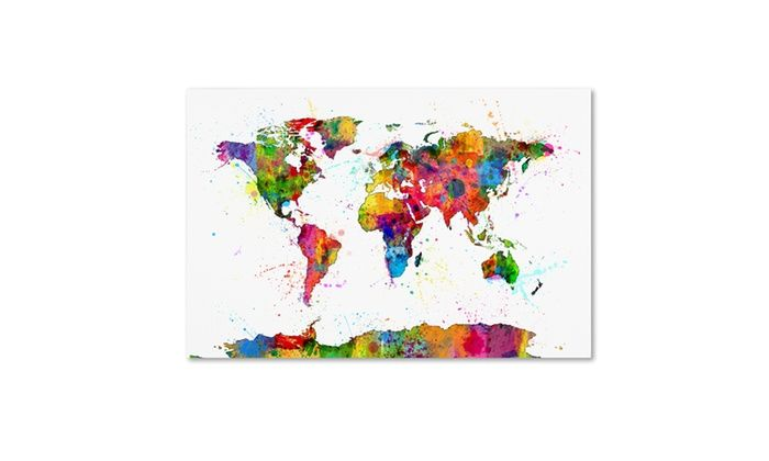 Groupon goods michael tompsett map of the world watercolor canvas groupon goods michael tompsett map of the world watercolor canvas art gumiabroncs Images