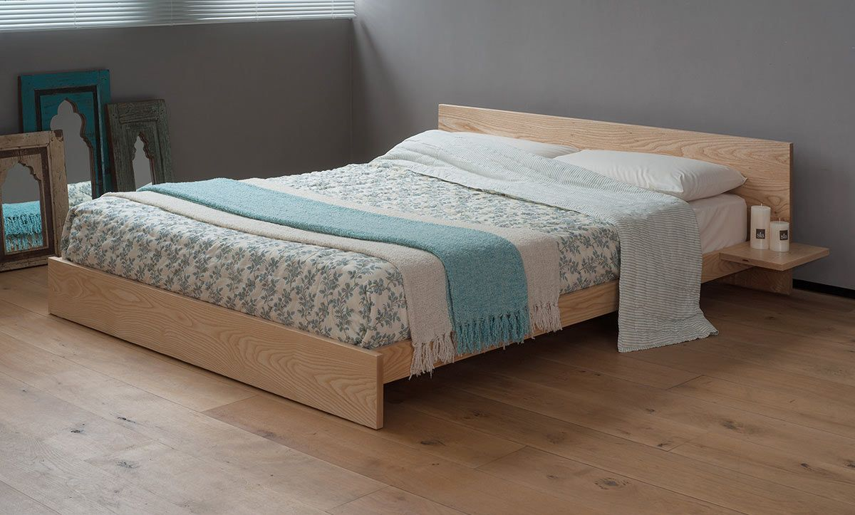 The Hand Built Kulu Platform Wooden Bed Is A Solid Timber