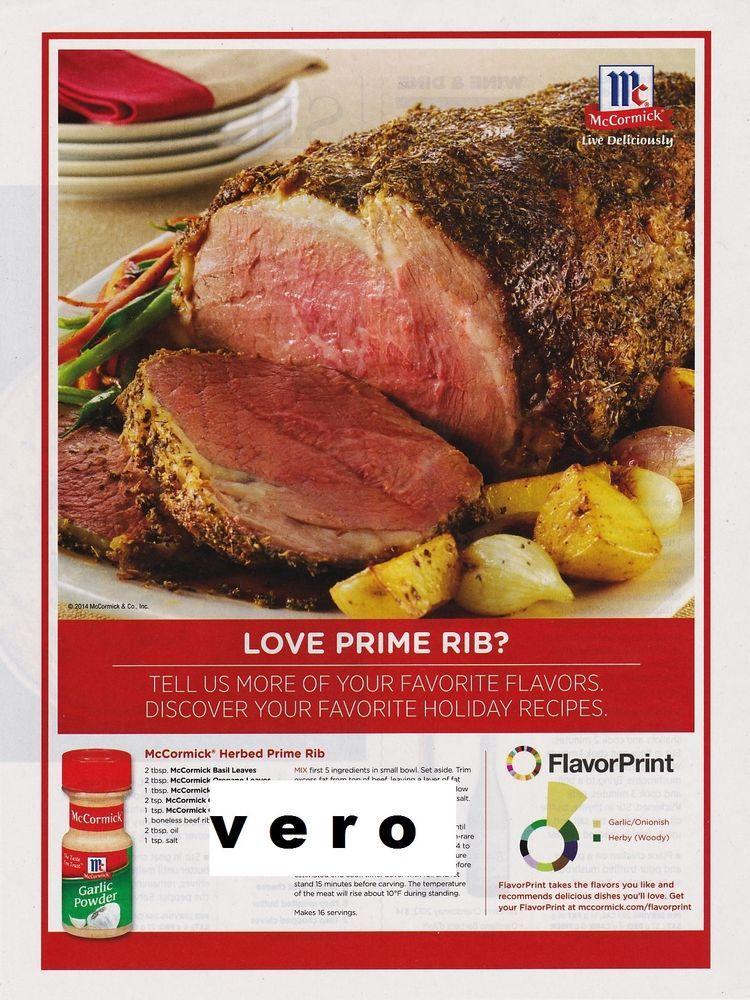 Mccormick magazine print ad clipping recipe herbed prime rib vintage mccormick magazine print ad clipping recipe herbed prime rib vintage forumfinder Gallery