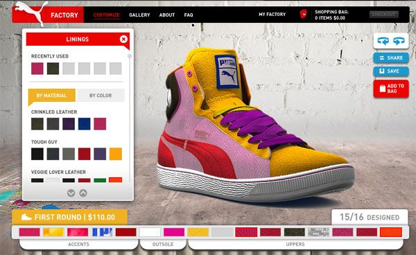 customize puma shoes online