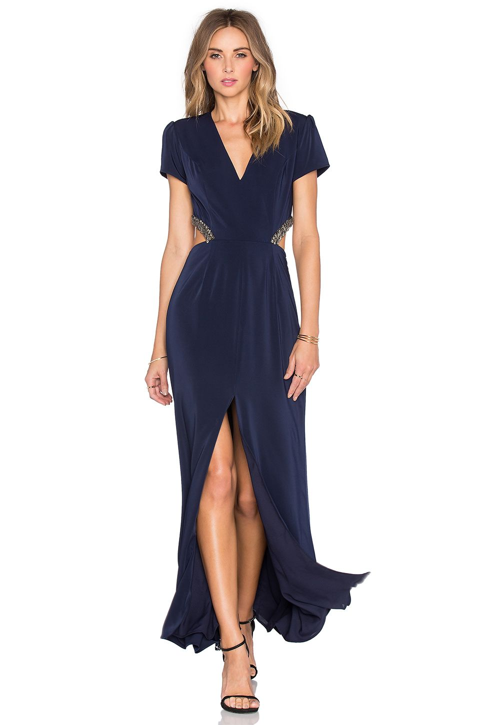 Lovers + Friends x REVOLVE Adaline Gown in Navy | MAD Style | Pinterest