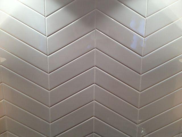 2x6 Subway Tiles In Chevron Pattern