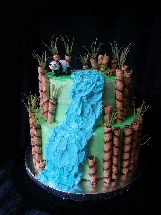 Panda bamboo forest cake Fun Cakes by LBD Pinterest Forest