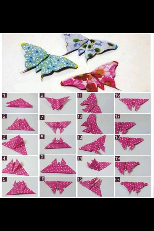 Origami Papillon Origami Pinterest Tutoriales De Manualidades