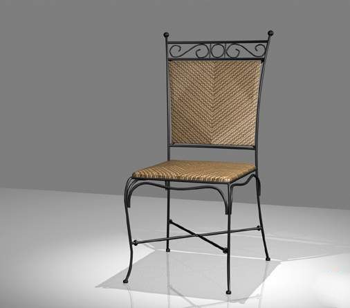 Wrought Iron And Wicker Dining Chair Model Deck Designs