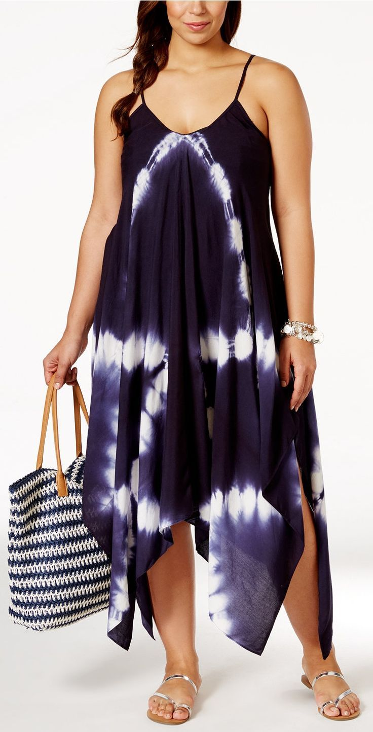2e8fc4395a2 Plus Size Tie-Dye Dress