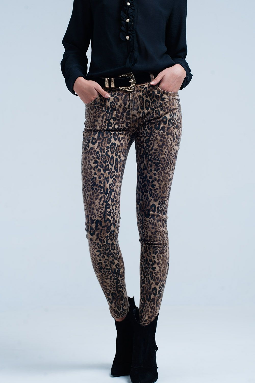 b1ff8973e3d6 Leopard print skinny jeans   leopardo   Printed skinny jeans, Jeans ...