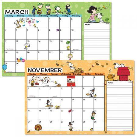 Calendario Snoopy 2020.Peanuts 2018 2019 Calendar Pad Colorful Images School