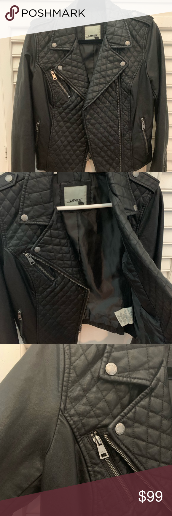 Levi's Faux Leather Jacket Black faux leather jacket
