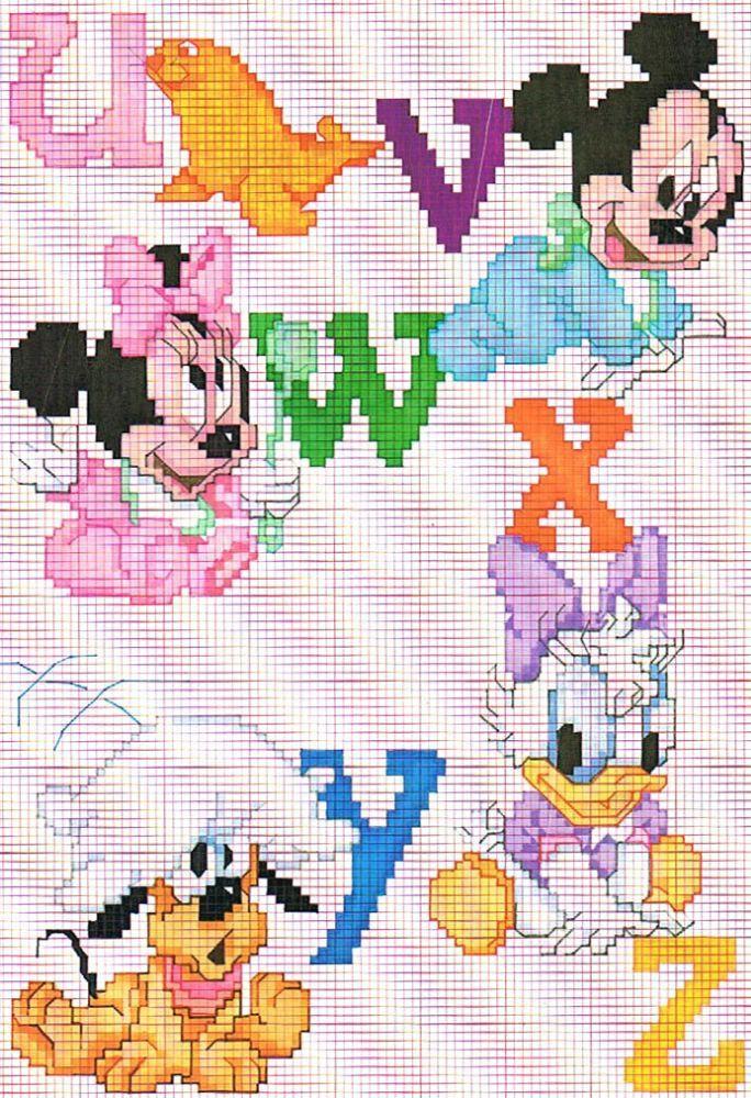 Punto de cruz Disney: baberos para los peques | Punto de cruz ...