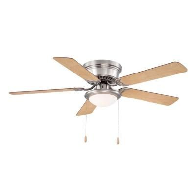 Hugger 52 in. Brushed Nickel Ceiling Fan - AL383-BN - The Home Depot