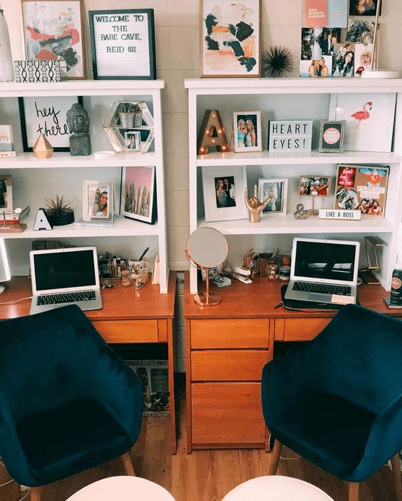 20 Pinterest Worthy Dorm Room Ideas - Simply Allison #dormroomdesigns