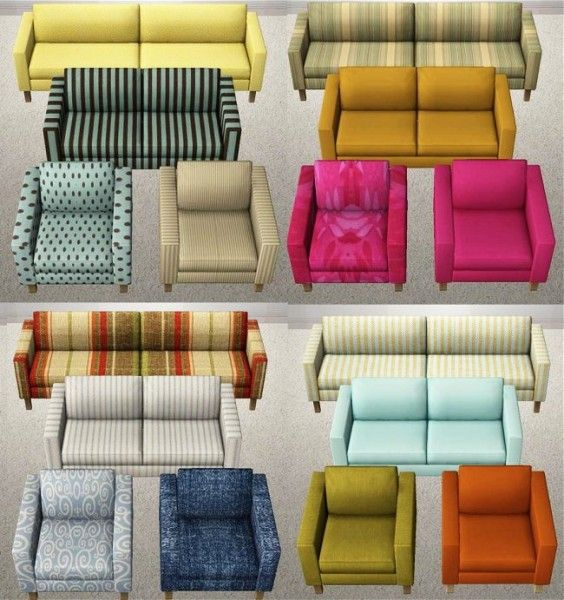 IKEA Sofa Recolors | Dee\'s Sims2Stuff and TEST Magazine web pages ...