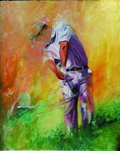 golf swing la beauté du geste tableau de Bivan