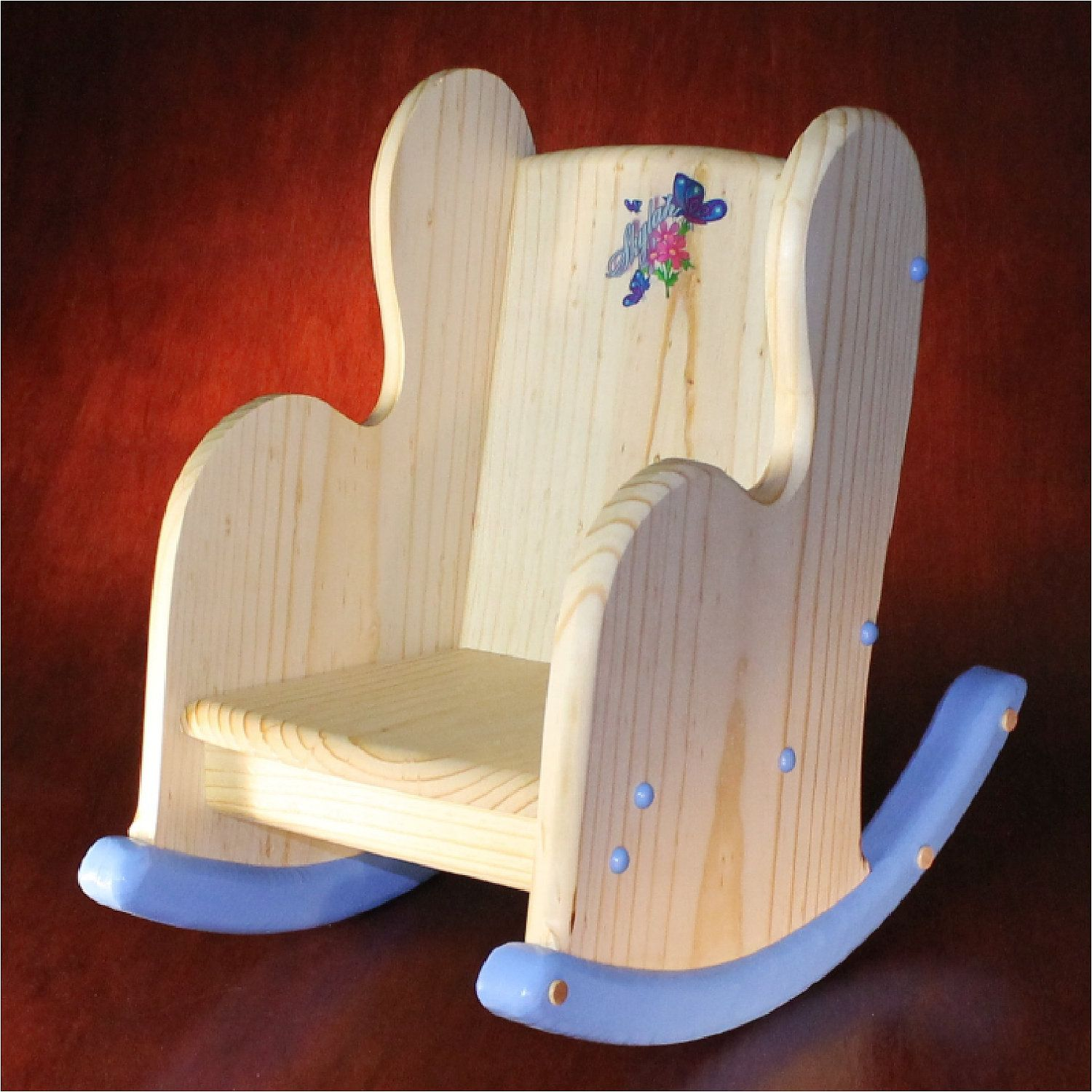 Child S Wooden Rocking Chair Personalized By