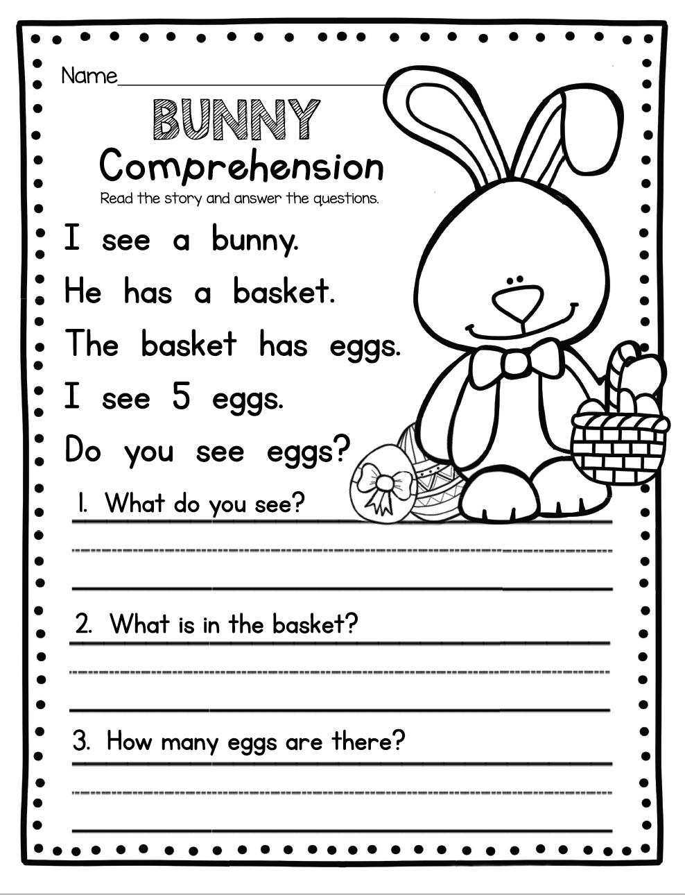 - Easter Worksheets (With Images) Kindergarten Freebies