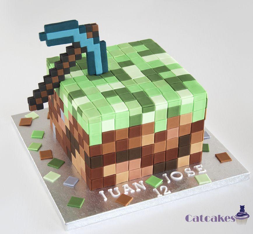 minecraft inspired birthday cake by catcakes minecraft party pinterest kuchen kuchen mit. Black Bedroom Furniture Sets. Home Design Ideas