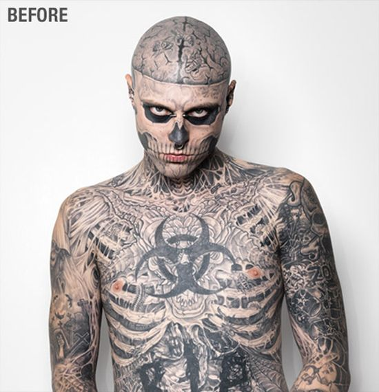 Zombie Boy, aka Rick Genest, one of the most tattooed in ...