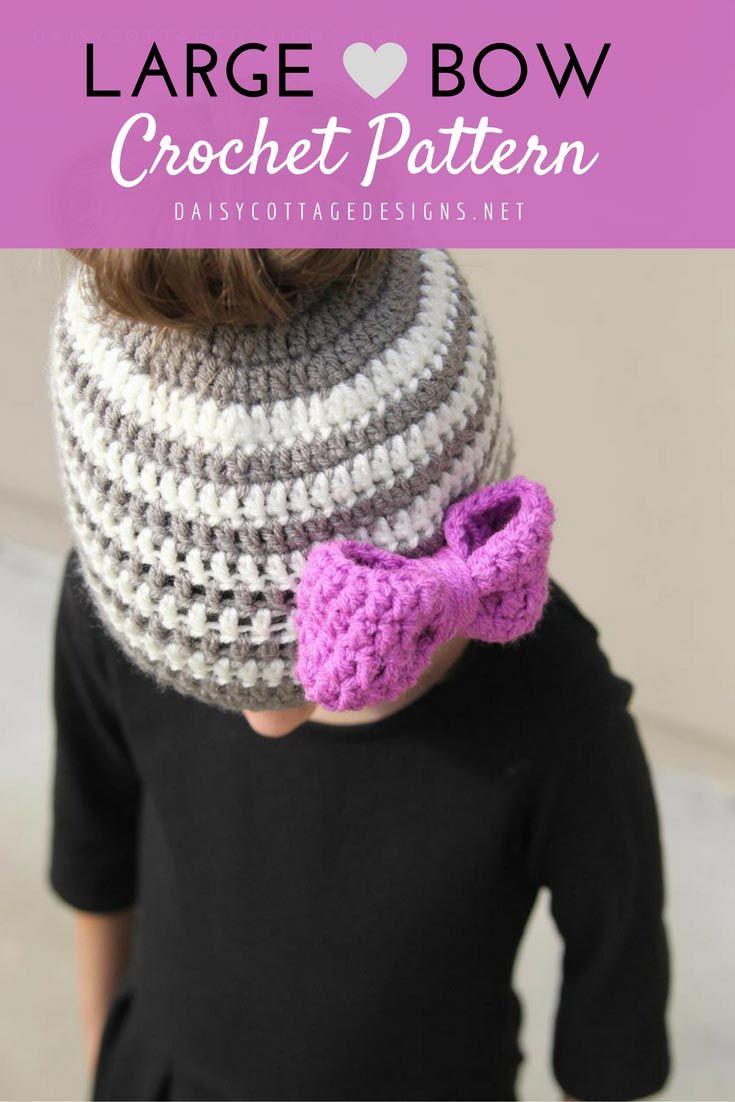Large Bow Crochet Pattern   Pinterest   Ganchillo