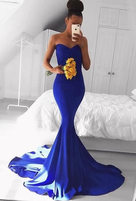 Royal Blue Prom Dresses, Simple Prom Dress,Sexy prom | Sexy Prom Dresses |  Pinterest | Royal blue, Prom and Royals