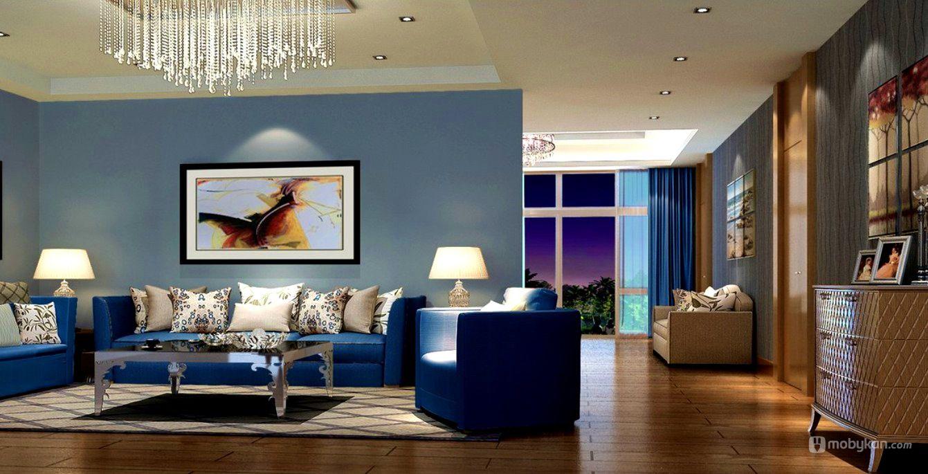 الوان دهانات مميزه افكار ل الوان الدهان مجلة موبيكان Blue Grey Living Room Blue Couch Living Room Blue Couch Living
